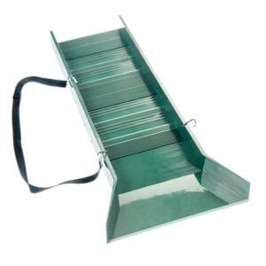 """30"""" Light Weight Green Sluice Box with Shoulder Strap & 2 Carabineer"""
