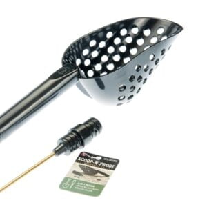 """14"""" Sand Scoop with Hole & Brass Probe For Gold Panning /Metal Detecting,Black"""